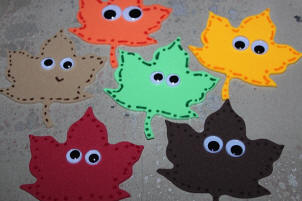 Fall Leaf Magnet Craft