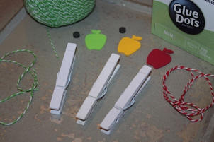 Apple Clothespins...Step-by-Step Instructions
