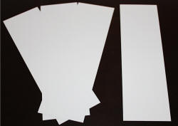 Blank Inserts for Vinyl Bookmark Sleeves