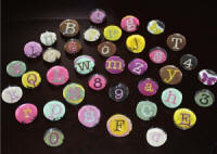 Small Letter Bubble Magnets