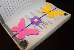 Butterfly Flower Bookmark in Book