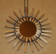 Clothespin Mirror with Rhinestones