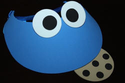 Blue Foam Visor with Tan Cookie