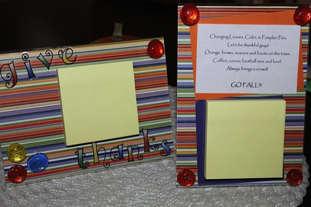 Post it Note Holder... Fall Gifts