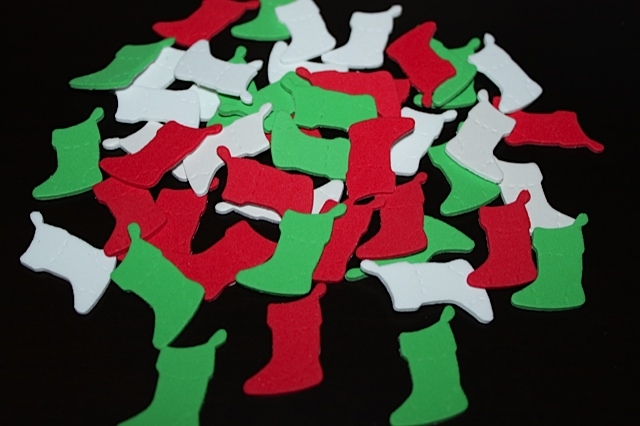 Red, White, and Green Foam Stocking Stickers