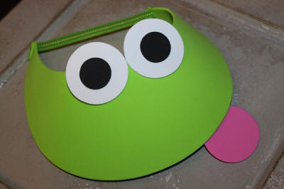 Easy to Make Frog Visor with Pink Tongue