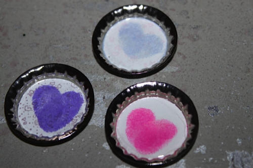 Heart Thumbprint Magnets