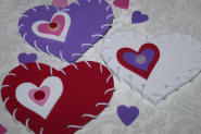 DIY:  Lacing Hearts for Valentine's Day