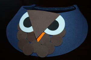 Easy Owl on Navy Blue Foam Visors