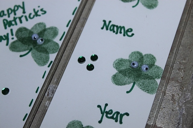 How to make Shamrock Bookmarks