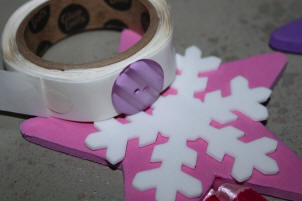 Attach Snowflake Shapes to Party Wands!