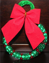 Tri Bead Wreath Ornament